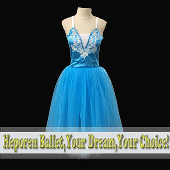 Ballet long dress/classic nutcracker ballet tutu costumes/new blue ballet long dress romantic party giselle ballet long dresses фото