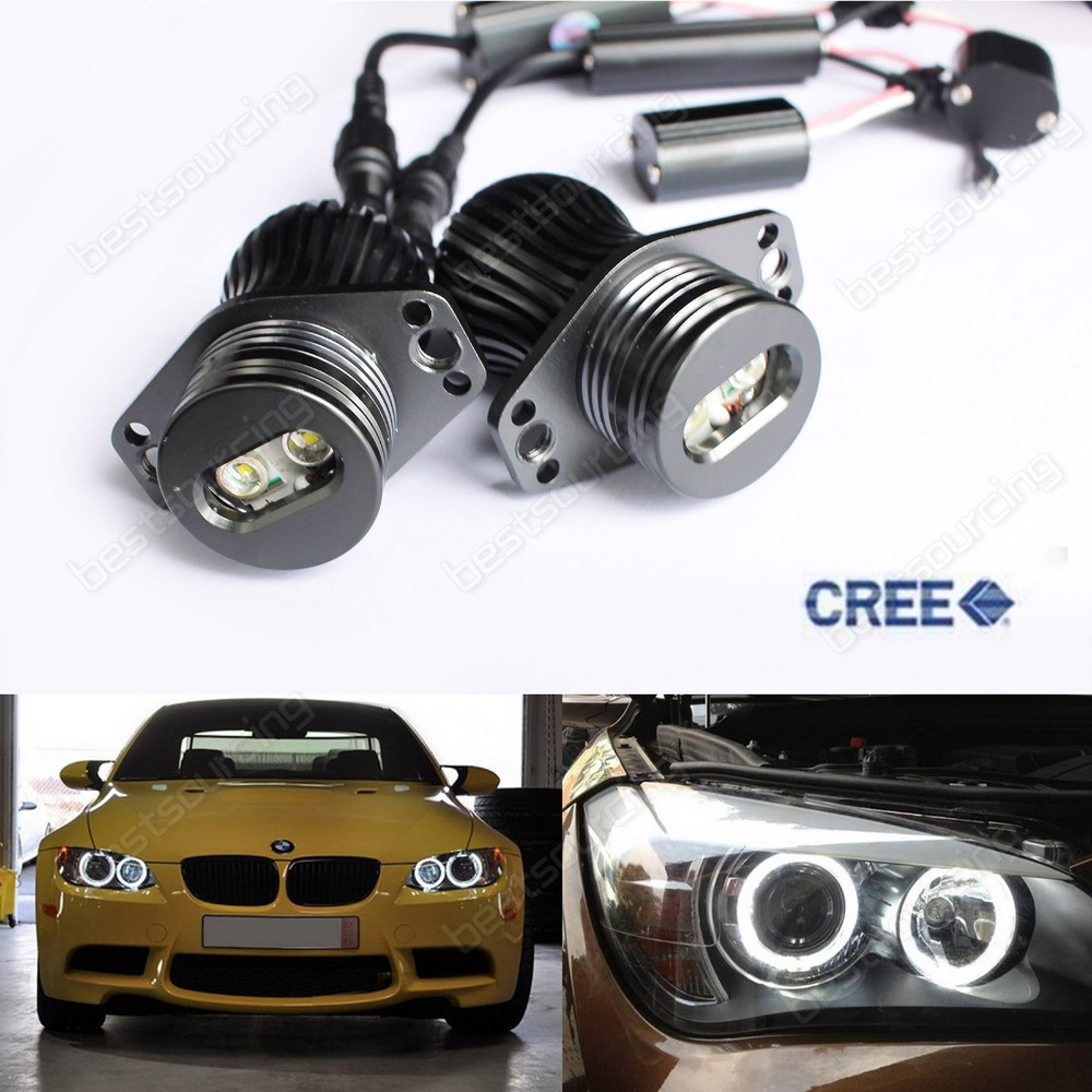 CREE LED 20W HeadLight Angel Eye Halo Light Bulb DRL White E90 E91 3 Series(CA214)