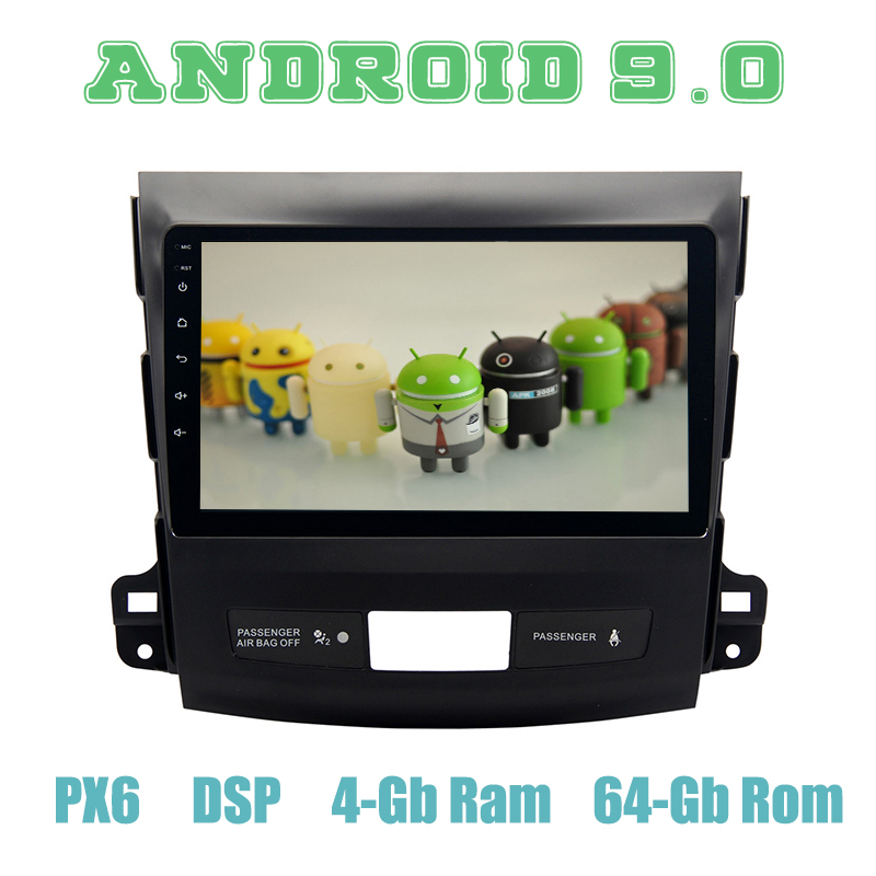 9 IPS PX6 Android 9 0 Car GPS Radio Player for mitsubishi outlander 2007 2012 with