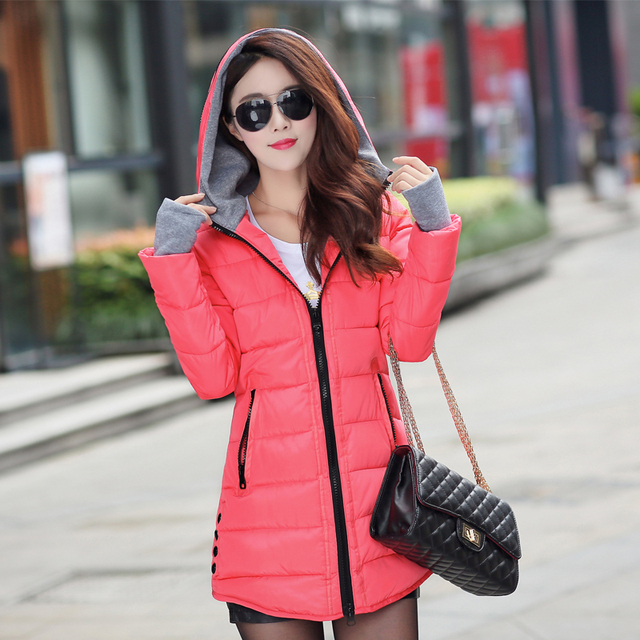 12 Colors Women Plus Size Female Hoodie Hooded Autumn Winter Long Sleeve Down Parka Slim Casual Quilted Chaquetas Jacket Coat