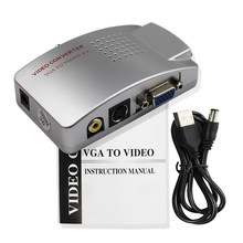 6 Pcs2019 Baru PC Laptop VGA TO AV RCA S-VIDEO Sinyal USB Converter Switch Box VGA2AV Gratis Pengiriman untuk Laplop monitor PC(China)
