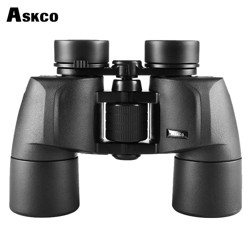 Askco Wide Angle HD 8x40 Binoculars Professional Hunting Telescope Zoom High Quality Vision No Infrared Eyepiece Black цена