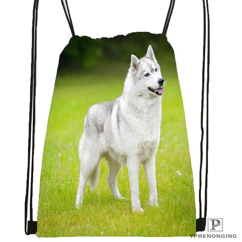 Custom Yorkshire Terrier Puppy Dog 2 Drawstring Backpack Bag Cute Daypack Kids Satchel Black Back 31x40cm