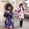 Nuevo 2016 de la alta calidad del bebé Muchachas de los muchachos de invierno Mianfu chaquetas niños Niñas Acolchado niños prendas de abrigo caliente