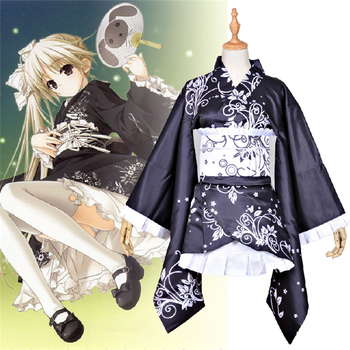 In solitude where we are least alone Kasugano Sora cosplay costume Halloween anime Japanese Kimono dress cloth free shipping