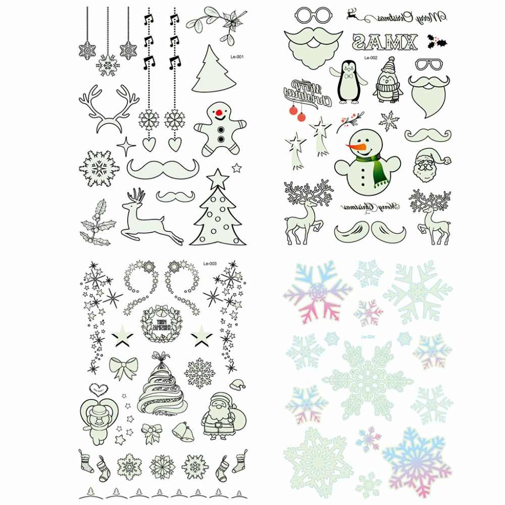 Lichtgevende Tattoo Glow In The Dark Glitter Kerst Flash Fluorescerende Stickers