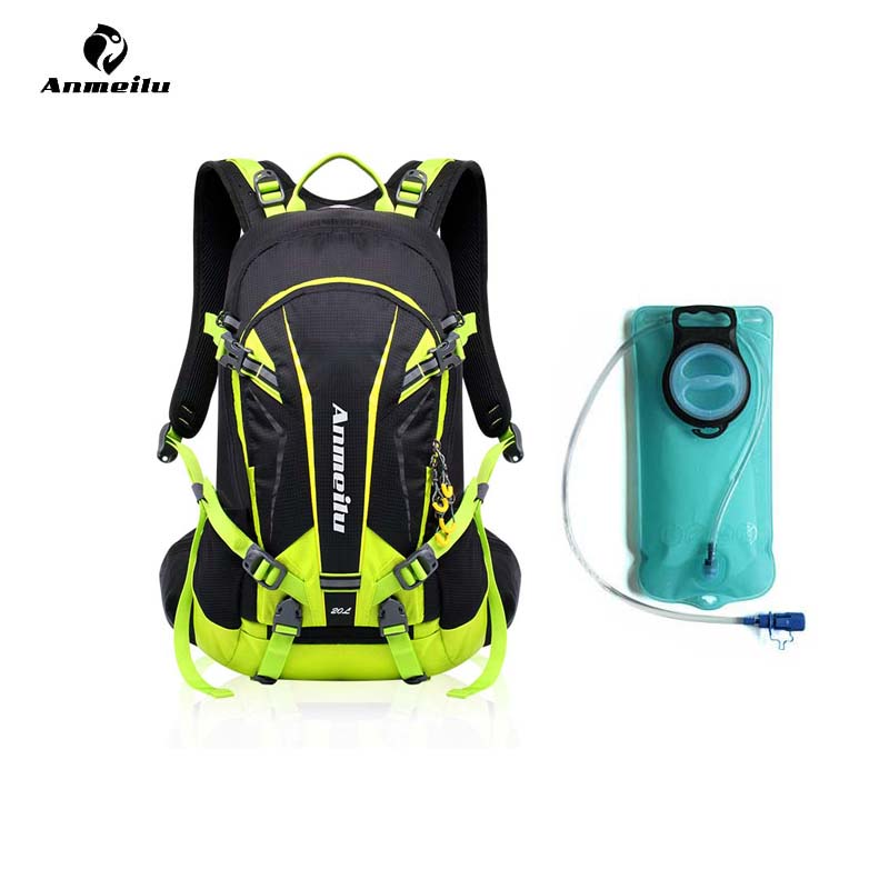 ANMEILU 2L Sports de plein air TPU sac à eau 20L grande capacité escalade Camping cyclisme randonnée hydratation sac à dos vessie Pack