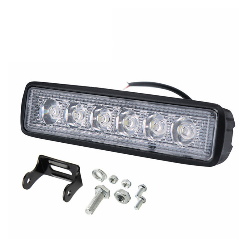 New 18 W <font><b>12</b></font> <font><b>V</b></font> <font><b>LED</b></font> Work Light <font><b>Bar</b></font> Spotlight Flood Lamp Driving Fog Offroad <font><b>LED</b></font> Work Car Light for Ford Toyota SUV 6WD <font><b>led</b></font> beams image