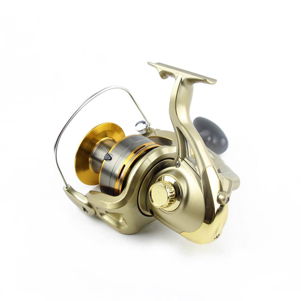 Cheap 8000 9000 10000 11000 Spinning Reel Fishing 11BB Max Drag 12KG Saltwater Sea Big Spinning Fishing Reel Moulinet Wheel  (6)