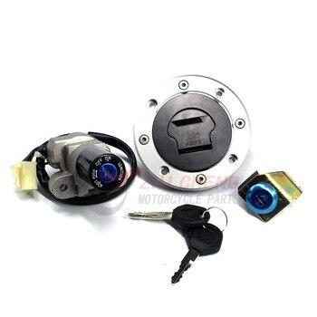 Для Suzuki GS500 2001-2012 GS 500 2001-2009 2010 2011 2012 переключатель зажигания мотоцикла топливный бак для газа крышка сиденья замок набор ключей