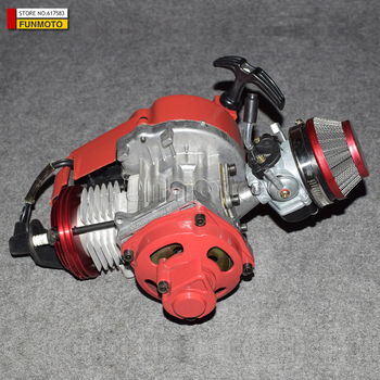 49cc silnik z lepszą cylinder/tłok/gaźnika/filtr powietrza mini motor terenowy marki KXD LIYA HIGHPER NITRO SSR 30 wyścigi