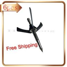 Hot sale!2″Cut Mechanical Hunting Broadhead 3Blades Points 100Gr 6Pcs Silve Colo Bow and Crossbow Arrowhead Archery Hunting