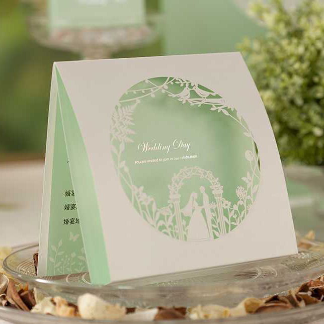 Folding Type Laser Cut Design Bride Groom Wedding Invitations Kit Blank Insert Paper Invitation Card convite casamento colorful white ribbons bow laser cut wedding invitations set blank paper insert romantic printing invitation cards kit