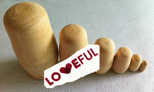 New Quality 6 Pieces Of Blank Embryos Beautiful Wooden Russian Nesting Dolls for Kids' Gifts Toy ---Loveful(China)
