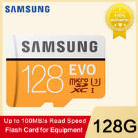SAMSUNG tarjeta de memoria Micro SD 32G 64G 128g 256 tarjetas MicroSD SDHC SDXC Max 100 MB/S EVO 32 GB 64 GB C10 TF Trans Flash