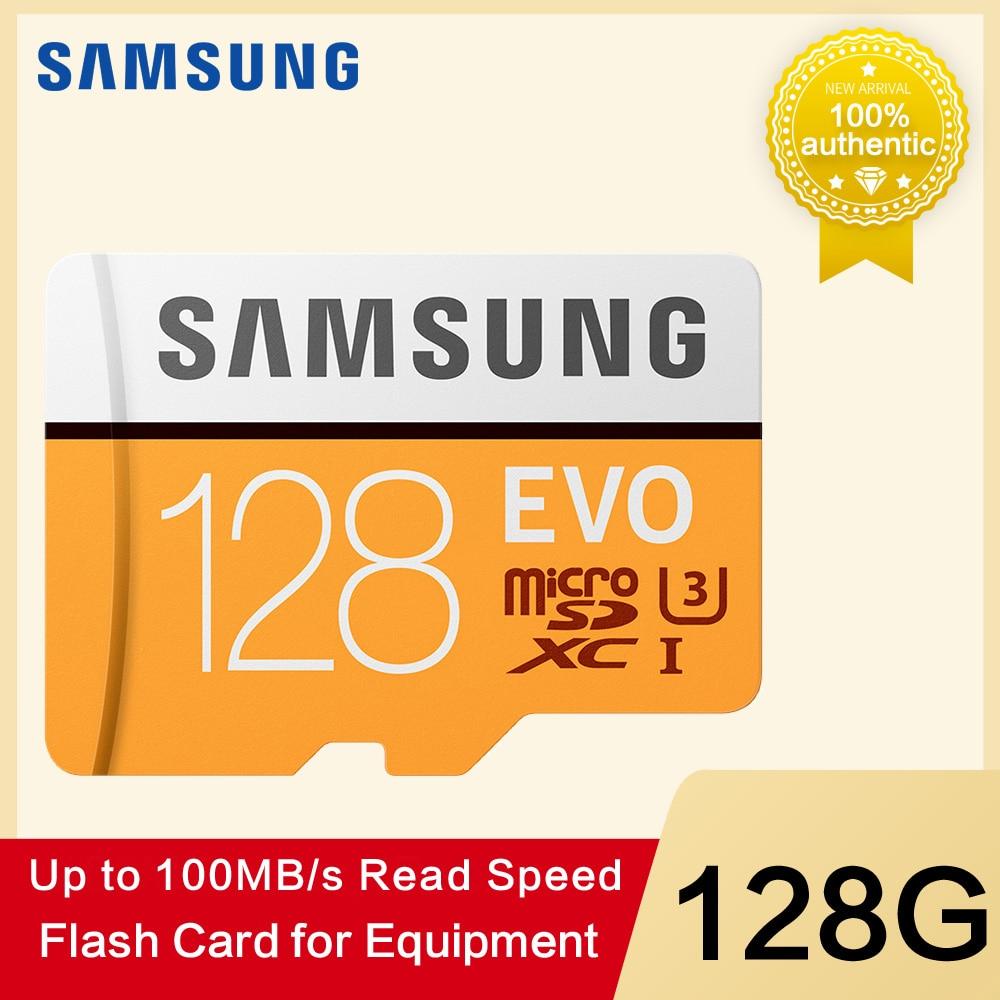 SAMSUNG tarjeta de memoria Micro SD 32G 64G 128g 256 tarjetas MicroSD SDHC SDXC Max 100 mo/s EVO 32 GB 64 GB C10 TF Flash Trans