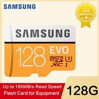 SAMSUNG tarjeta de memoria Micro SD 32G 64G 128g 256 tarjetas SD SDHC SDXC Max 100 MB/S EVO GB 32 GB 64 GB C10 TF Trans Flash