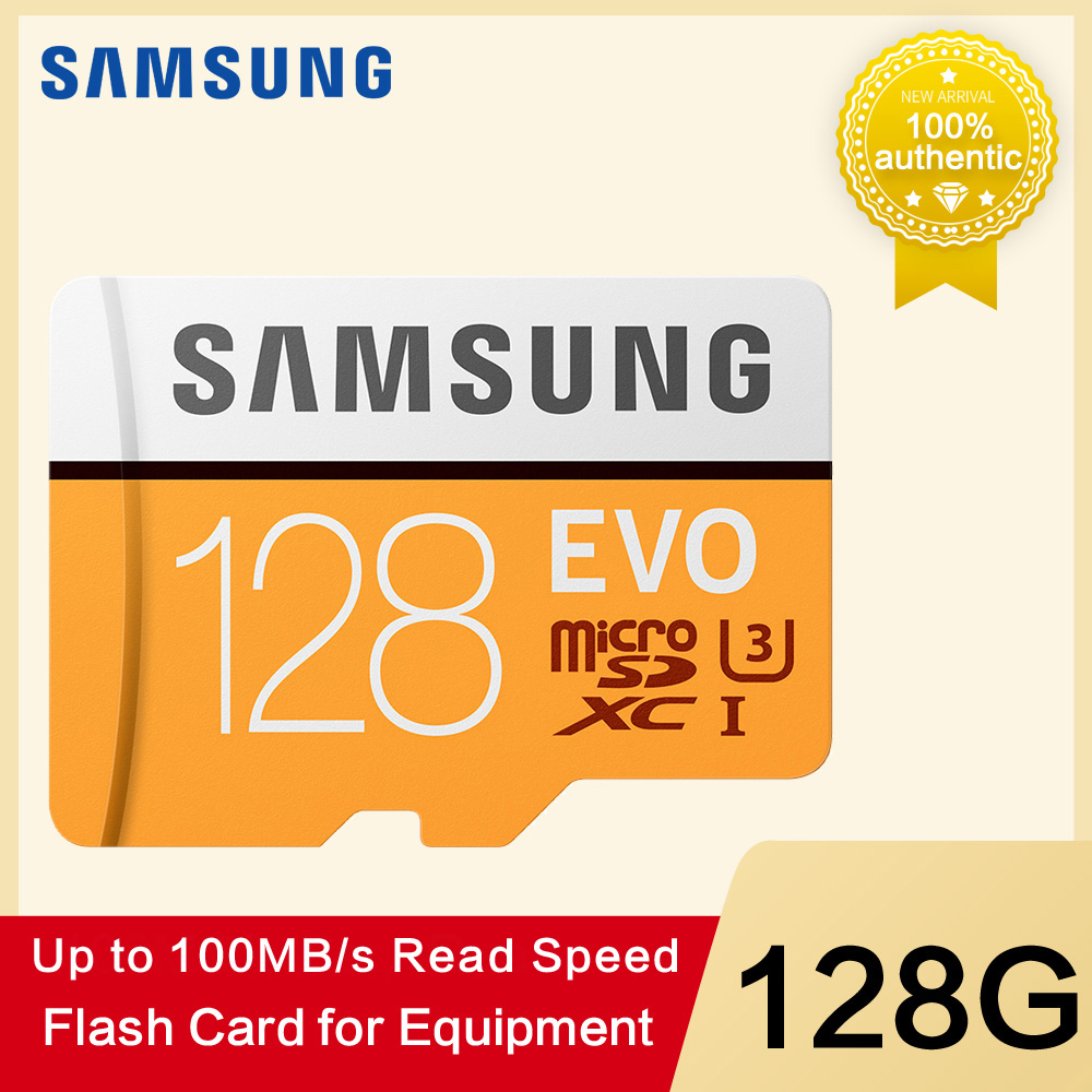Samsung tarjeta de memoria micro sd 32g 64g 128g 256 tarjetas microsd sdhc sdxc max 100 mb/s evo 32 gb 64 gb c10 tf flash trans