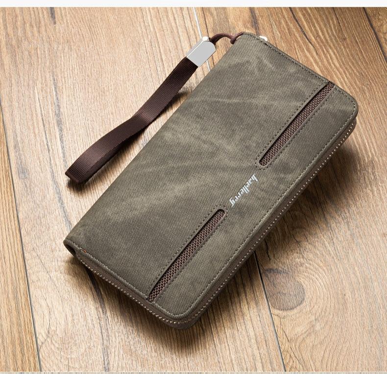 Baellery carteira bolsa de lona luxo homens