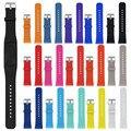 Diseño 2016 correas de reloj de reemplazo de silicona reloj correa de la banda de lujo para samsung gear fit 2 sm-r360 moda correas de reloj deportivo