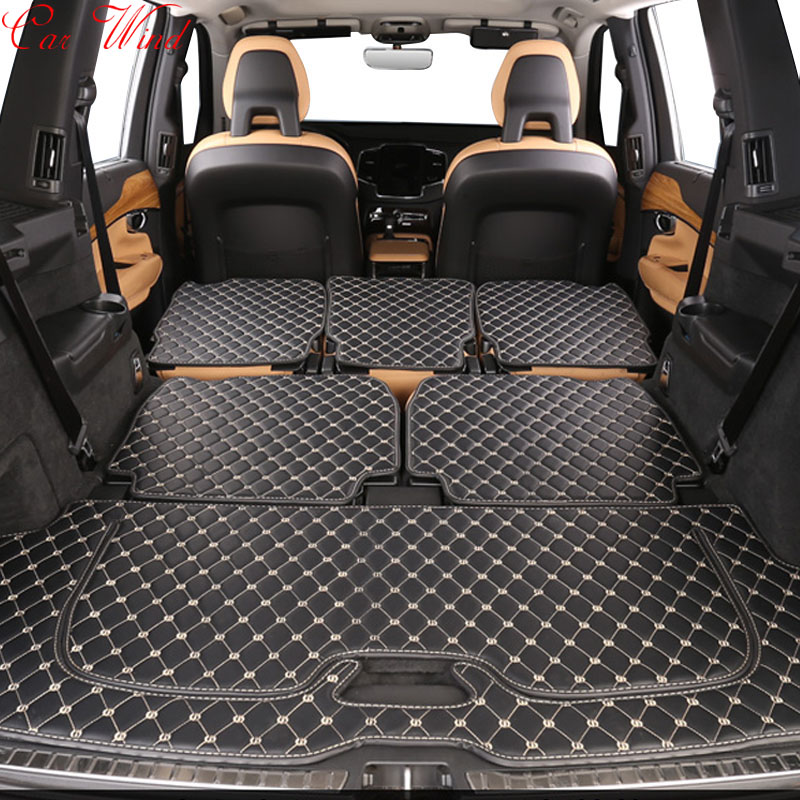 Car wind Custom car trunk mat for Volvo XC90 s60 s80 xc60 v60 v40 s90 s80 floor mats Cargo Liner Interior Accessories Carpet carpet custom car floor mats for volvo xc90 xc60 s90 s60 v60 v40 v90 auto floor mat car accessories envelope in half carpets