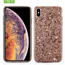 CKHB Bling crystal sequin phone case for iPhone6S/7/8Plus/X/XS/XS MAX for Samsung S8/S9Plus/Note8/9 plating frame TPU phone case