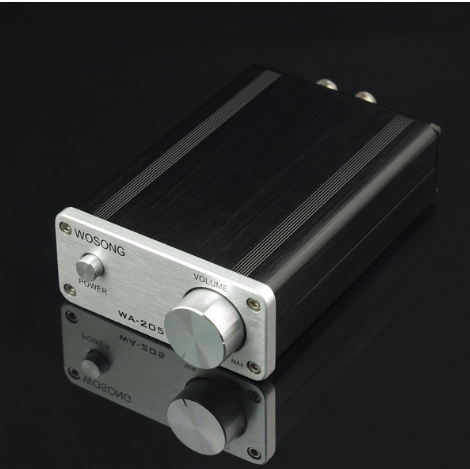 ФОТО WA -205 TK2050  50W +50 W  2.0 HiFi Digital Audio Power Amplifier / Sound good than expected aluminum mini amplifiers hot SALE