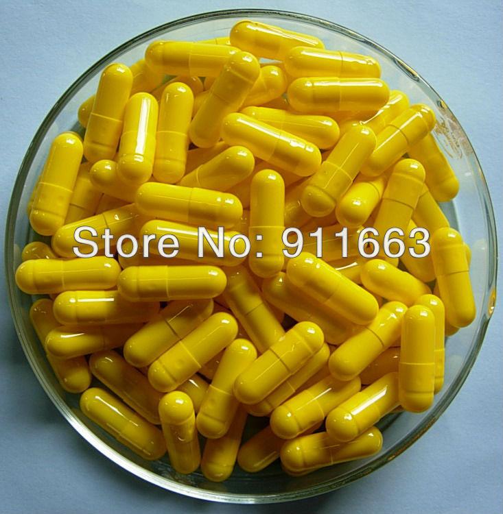 0 10 000pcs yelow yellow colored gelatin empty capsules sizes 0 gelatin capsules gelatine hollow capsules