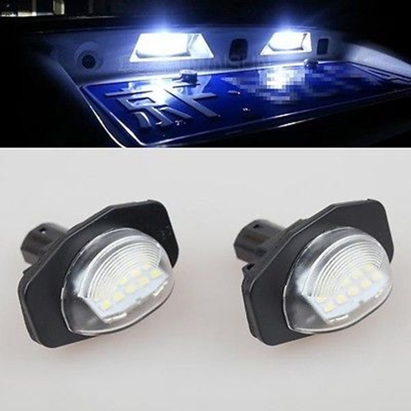 Free shipping 2pc 18 SMD No Error White Car Bulbs LED Number License Plate Light for TOYOTA Alphard 2008-2014 Sienna MK3 2pcs error free led smd license plate light for toyota land cruiser lexus gx lx470 new dropping shipping