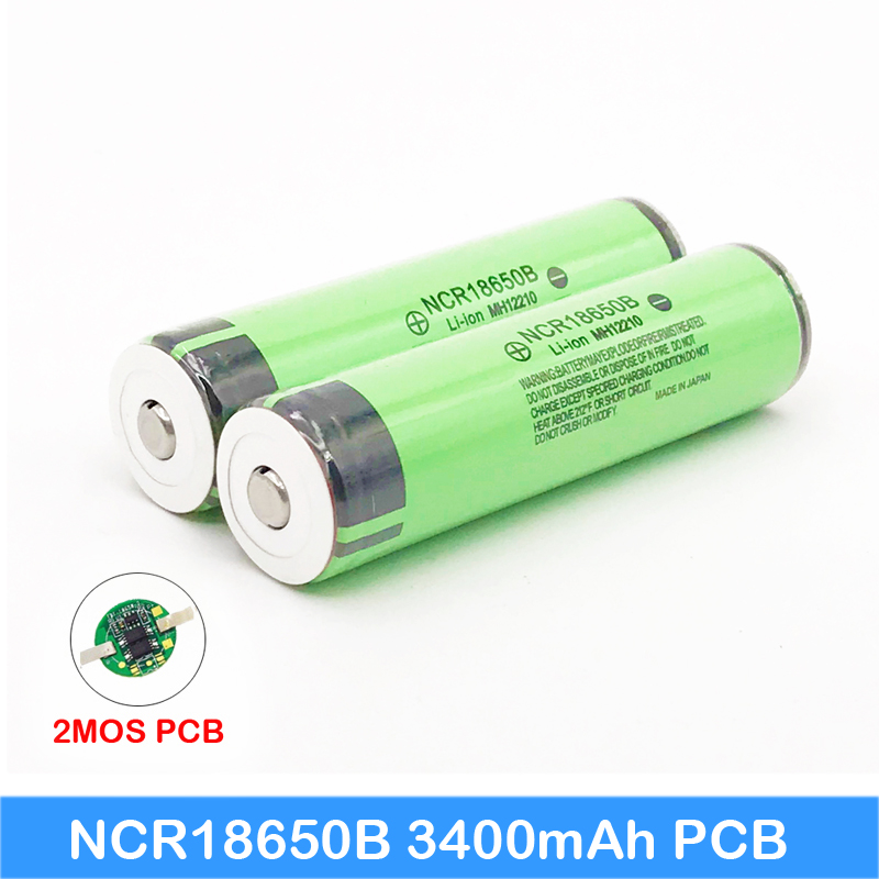 2018 New Original NCR18650B 18650 li-ion Rechargeable battery 3400mAh 3.7V with PCB For Laptop ues/Electronic cigarette use JY10