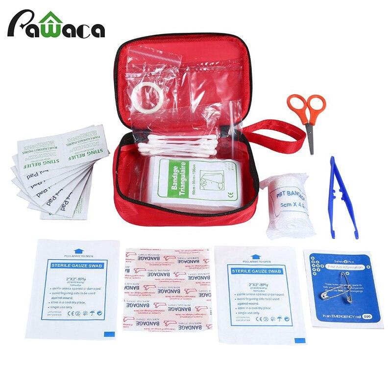 13 Pz Kit Medico Set Sopravvivenza Di Emergenza First Aid Kit Pacchetto Della Scatola Del Sacchetto Di Immagazzinaggio Viaggio All'aperto Forniture Custodia Per Il Trasporto Di Sopravvivenza Strumento
