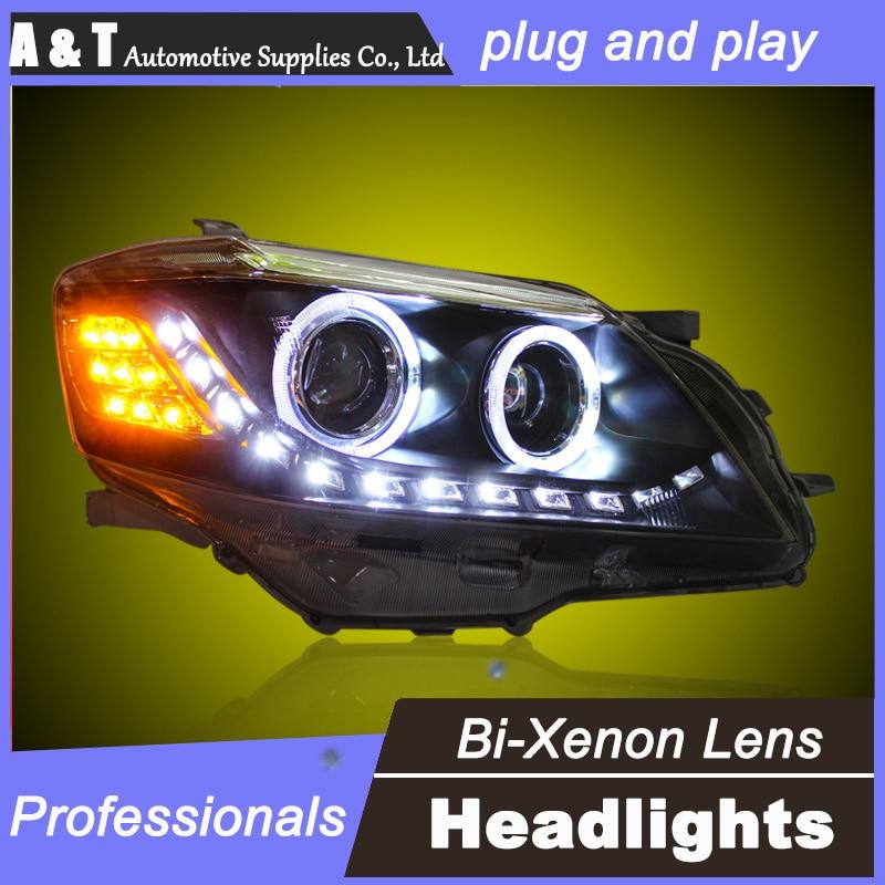 car styling For Toyota Camry headlights U angel eyes DRL 2009-2011For Toyota Camry LED light bar DRL Q5 bi xenon lens h7 xenon купить ауди q 5 2009