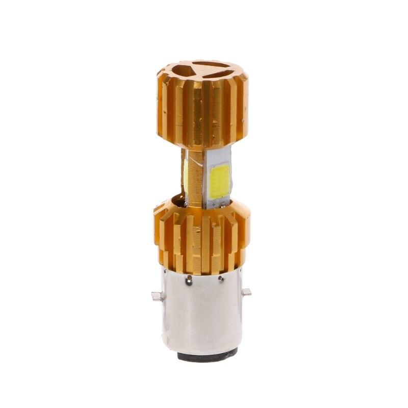 BA20D LED COB Motorcycle Bike Hi/Lo Headlight Lamp Bulb DC 10-80V 6500K 1500LM