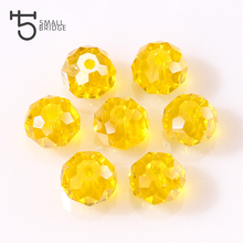 4 6 8mm Czech Rondelle Spacer Crystal Glass Beads For Jewelry Making Faceted AB Color Clear Diy Beads Loose Wholesale Z179