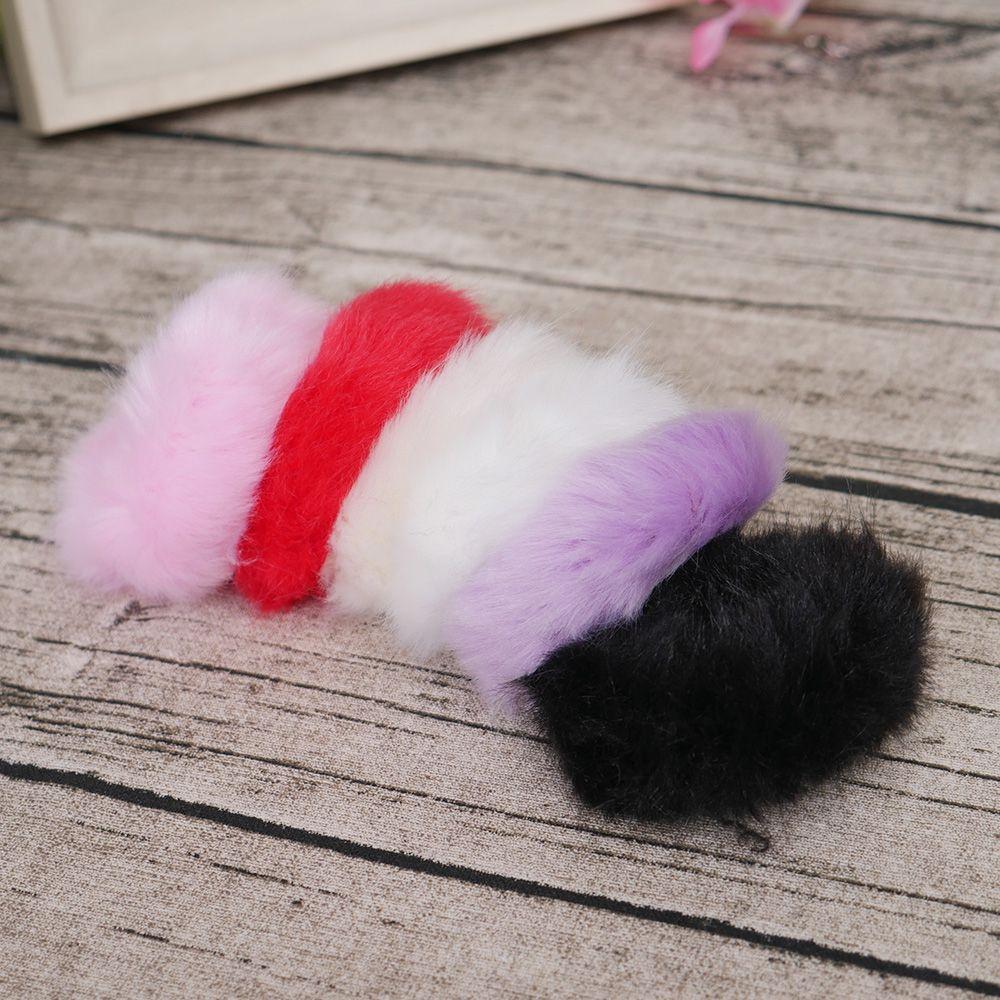 Милые трендовые теплые мягкие женские эластичные ленты из искусственного кроличьего меха для волос, аксессуары для волос для девочек, резинка для волос, головные уборы
