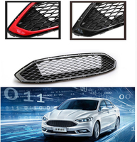 Front racing grill cover head abs black Raptor grill grille FIT FOR MONDEO 2017 2018