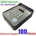 Teclado Sem Fio Intercomunicador Do Telefone Da Porta de áudio GSM SMS remoto fechadura Da Porta de lançamento e de alarme de segurança