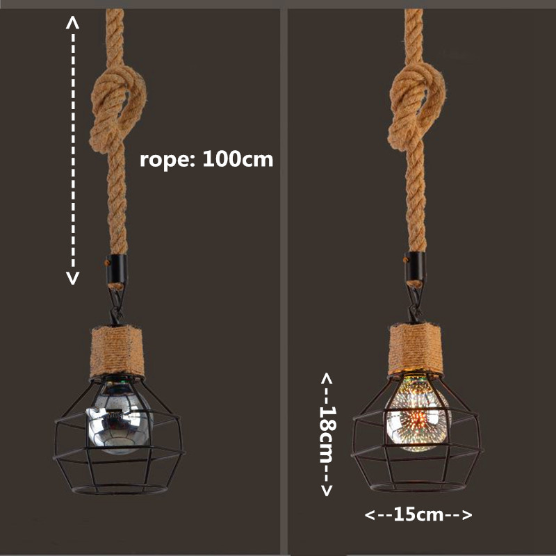 lowest price 1 Piece Pendant lamp Lampshade Loft Hanging Light for Restaurant Home Living Room Decoration  Without Bulb