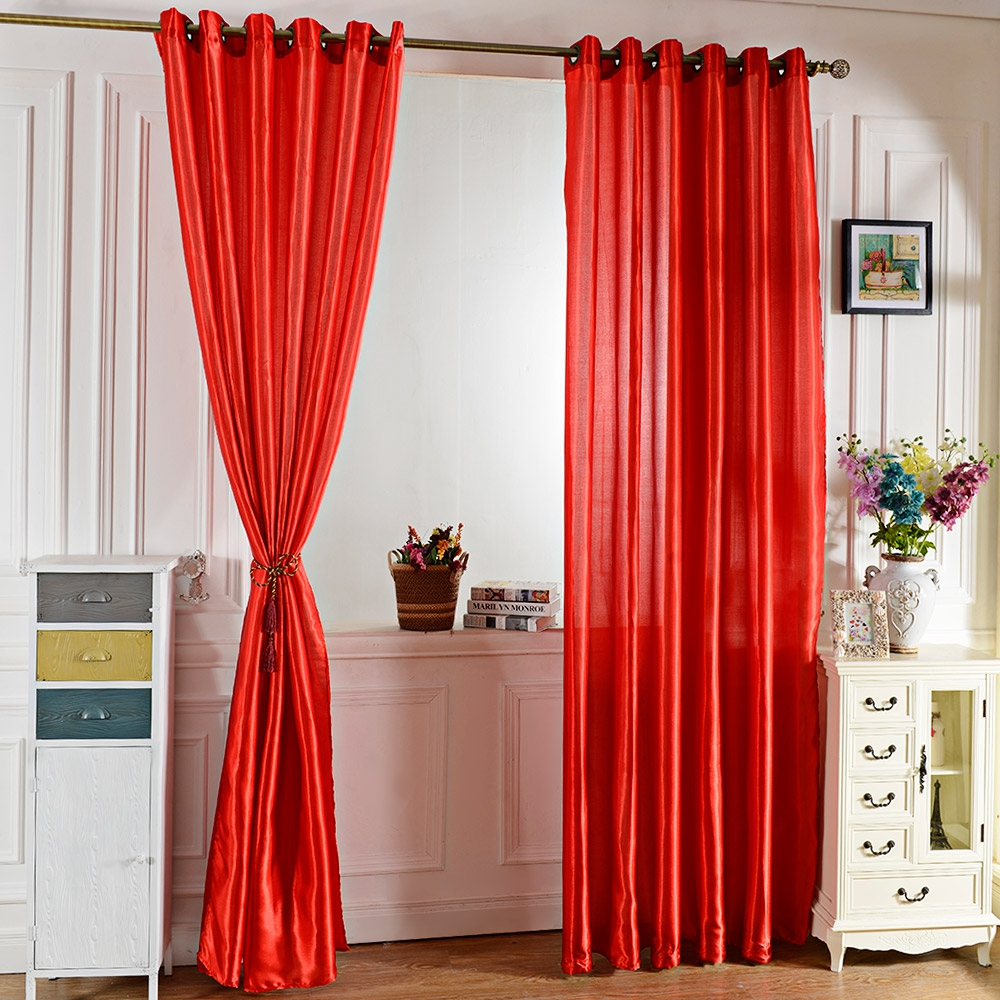 Curtains for bedroom 2016 - 2016 New Pure Color Woven Grommet Ring Top Blackout Window Curtain For Living Room Bedroom Hotel Cafe