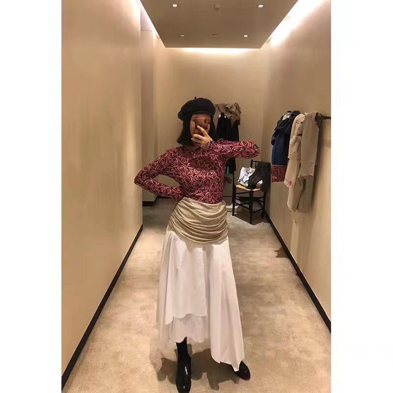 Taille Femmes Mode Printemps Patchwork 18 Jupe Ddxgz3 Haute 2 2019 w6qBHA1