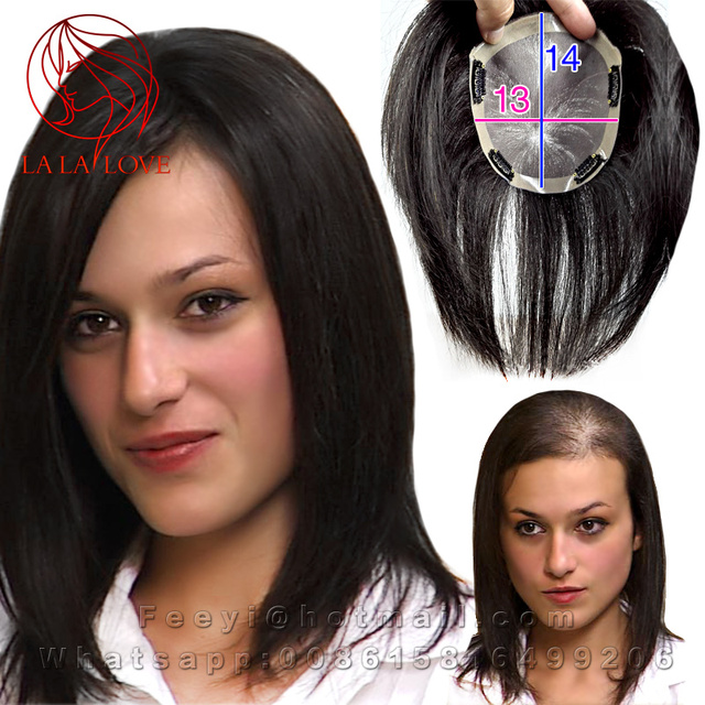 1b09e452d09 13*14cm Human toupee Women top thin skin hair replacement systems toppers  Hand tied mono filament 3# Hair piece toupee wigs men-in Toupees from  Beauty ...