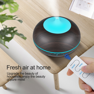 Image 3 - KBAYBO 550ml USB Air Humidifier Aroma Diffuser remote control 7 Colors Changing LED Lights cool mist maker Air Purifier for Home