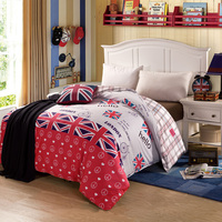 Home Textile Duvet Cover 1pc No Filling 100 Cotton Bedding Comforter Cover UK Flag Quilts Cover