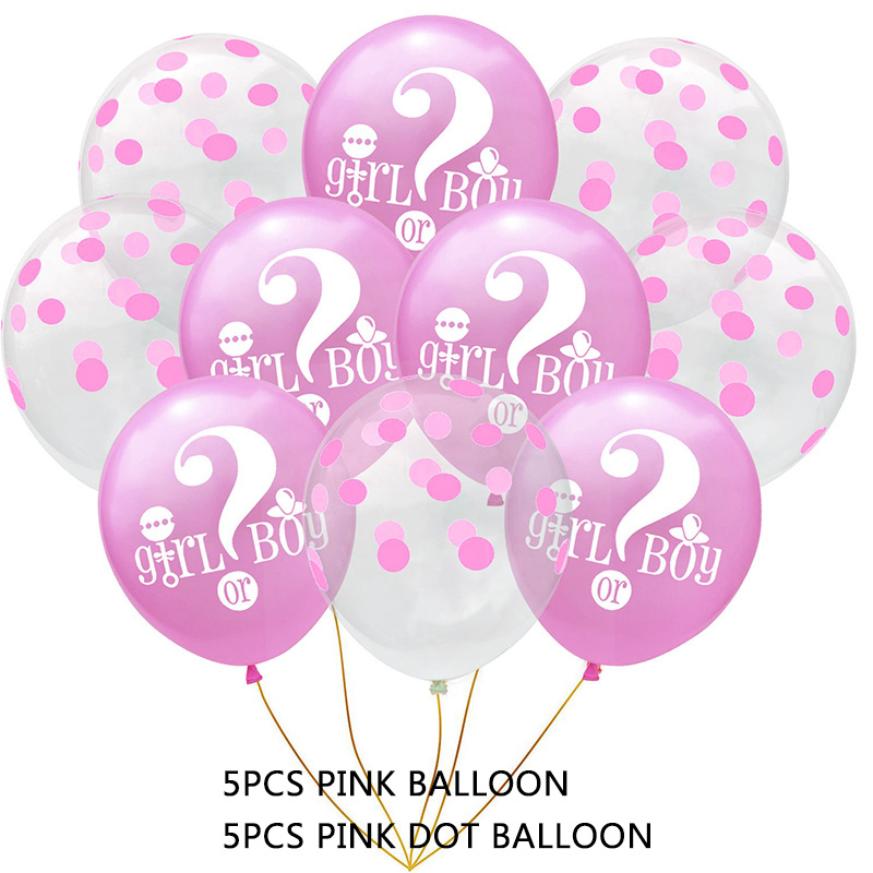 Gender Reveal Party Decor Balloon Girl Or Boy Balloon Baby Shower Party Decoration Glitter Confetti Balloon in Ballons Accessories from Home Garden