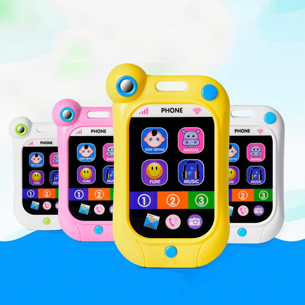 Blueslans 1pc 13*7.5*2cm  Toy Phone Baby Early Learning Simulation Touch Screen Smart Phone Cellphone Kids Toys