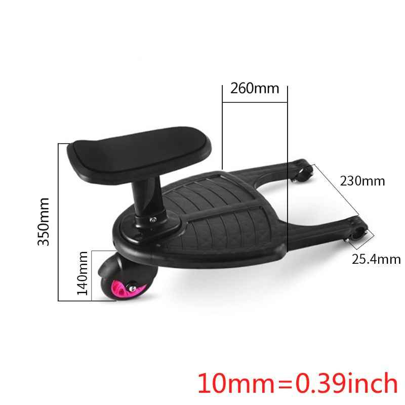 Stroller Auxiliary Pedal Second Child Artifact Trailer Twins Baby Cart Two Children Standing Plate Sitting Seat Stroller Accesso