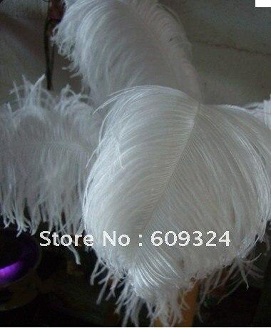 """Префект белый страусиные перья 22-2"""" для свадьбы центральные"""