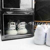 New Anti Oxidation AJ Sneaker Storage Organizer Collection Erect Display Transparent Plastic Shoe Box Top Grade Thick Material