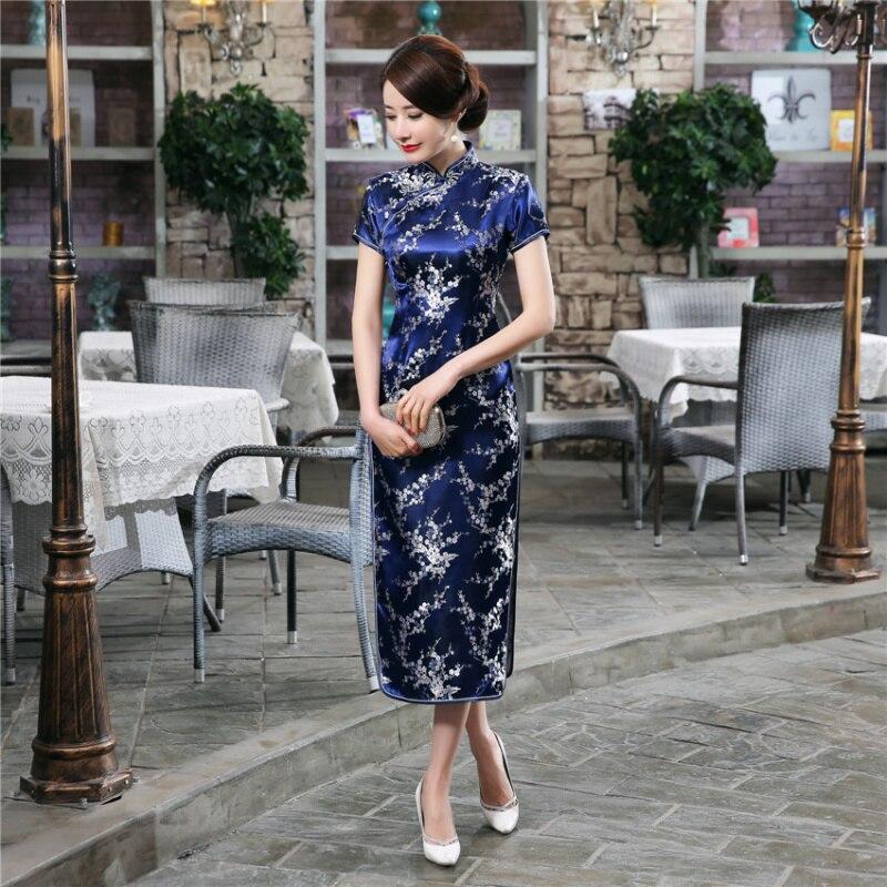 S-5XL Plus Storlek Stora Retro Kvinnor Kinesisk Drake Phoenix Lång - Nationella kläder - Foto 4