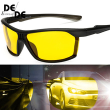 New  Mens Polarized Night Driving Sunglasses Men Brand Designer Yellow Lens Vision Glasses Goggles Reduce Glare130